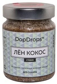 DopDrops Паста Лён Кокос стекло (стевия) (265гр) - фото 8620