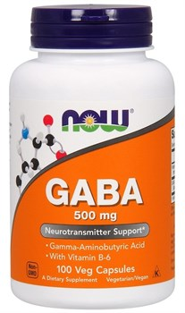 NOW - GABA 500 mg + B-6 (100капс) - фото 8690