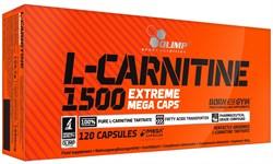 Olimp L-Carnitine 1500 Extreme Mega Caps (120капс) - фото 8819