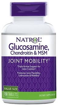 Natrol - Glucosamine Chondroitin & MSM (150таб) - фото 8958