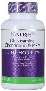 Natrol - Glucosamine Chondroitin & MSM (90таб) - фото 8960