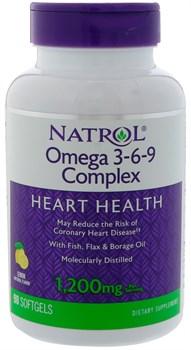 Natrol - Omega 3-6-9 Complex (90гел.капс) - фото 8962