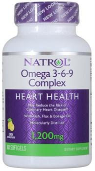 Natrol - Omega 3-6-9 Complex (60гел.капс) - фото 8963