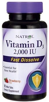 Natrol - Vitamin D3 2000 IU Fast Dissolve (90таб) - фото 8980