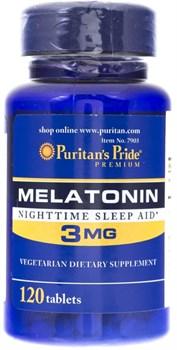 Puritan's Pride Melatonin 3mg (120табл) - фото 9065