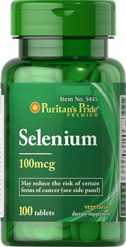 Puritan's Pride Selenium 100mcg (100табл) - фото 9067