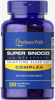 Puritan's Pride Super Snooze Complex with Melatonin (100капс) - фото 9068