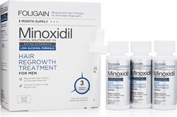 FOLIGAIN Men Minoxidil 5% (LAF) Hair Regrowth Treatment (3х60мл) - фото 9237