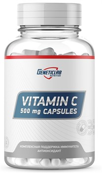 GeneticLab Nutrition - Vitamin C 500mg (60капс) - фото 9309