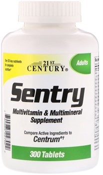 21st Century Sentry Adults Multivitamin & Multimineral (300таб) - фото 9410