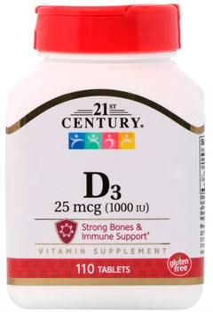 21st Century D3 25mcg (110таб) - фото 9411