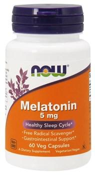NOW - Melatonin 5 mg (60капс) - фото 9674