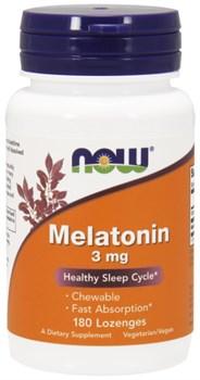 NOW - Melatonin 3 mg (180пастилок) - фото 9675
