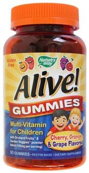 Nature's Way Alive! Children`s Multi-Vitamin Gummies (90жев.таб) - фото 9725