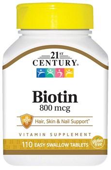 21st Century High Potency Biotin 800mcg (110таб) - фото 9730