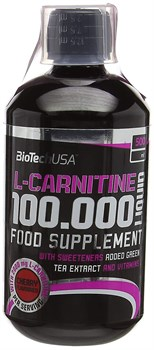 BioTech USA Liquid L-Carnitine 100000 mg (500мл) - фото 9736