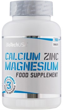 BioTech USA Calcium Zinc Magnesium (100таб) - фото 9745