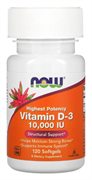 NOW - Vitamin D-3 10000 IU (120гел.капс)