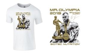 Scitec Nutrition Футболка Brandon Mr.Olympia 2019 (белый)
