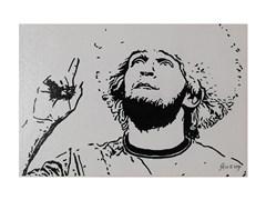ЯнеЖ Картина красками на холсте (20х30см) «Хабиб Нурмагомедов»