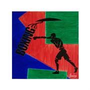 ЯнеЖ Картина красками на холсте с подрамником (30х30см) «Boxing»