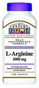 21st Century L-Arginine 1000mg (100таб)
