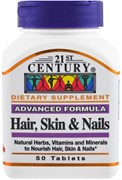 21st Century Advanced Formula Hair, Skin & Nails (50таб)