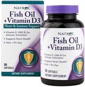 Natrol - Fish Oil & Vitamin D3 (90гел.капс)