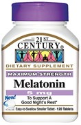 21st Century Melatonin 5mg (120таб)