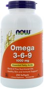 NOW - Omega 3-6-9 1000 mg (250гел.капс)