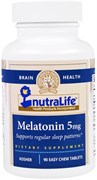 NutraLife Melatonin 5mg (90 жев.таб)