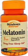 Sundown Naturals Melatonin 3mg (120таб)