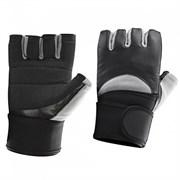 Be First Перчатки черно-серые с жестким фиксатором запястья