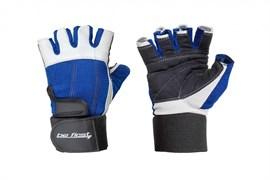 Be First Перчатки бело-синие с фиксатором