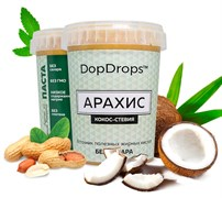 DopDrops Протеиновая паста Арахис Кокос (стевия) (1000гр)