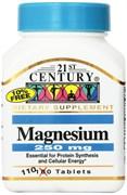 21st Century Magnesium 250 mg (110таб)