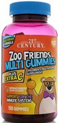 21st Century ZOO Friends Multi Gummies plus Extra C (150жев.таб)