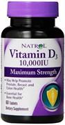 Natrol - Vitamin D3 10000 IU (60таб)