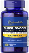 Puritan's Pride Super Snooze Complex with Melatonin (100капс)