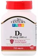 21st Century D3 25mcg (110таб)