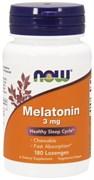 NOW - Melatonin 3 mg (180пастилок)